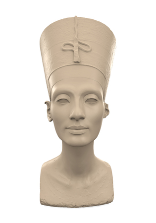 statuette: Bust of Queen Nefertiti Stock Photo