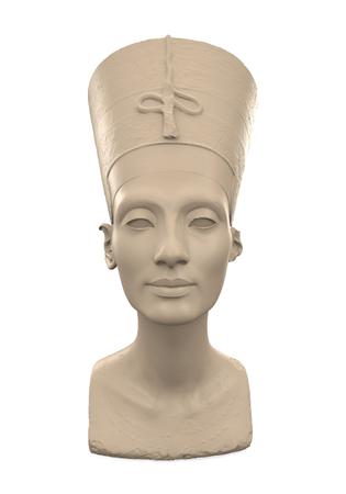 bust: Bust of Queen Nefertiti Stock Photo