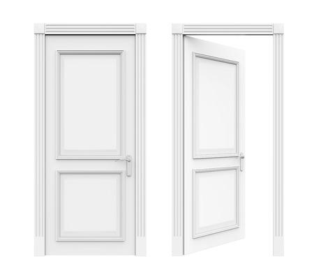 Portes fermées et ouvertes Banque d'images