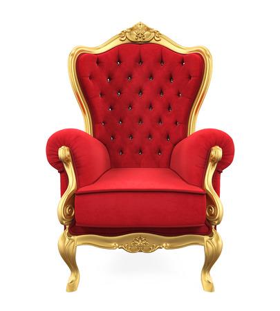 왕좌 의자 고립을 스톡 콘텐츠 - 71072715