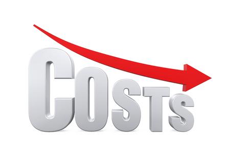 Costos Concepto Reducción Foto de archivo