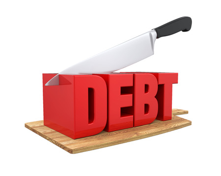 deficit: Debt Cuts Concept