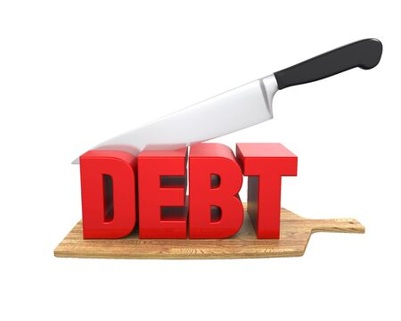 lowering: Debt Cuts Concept