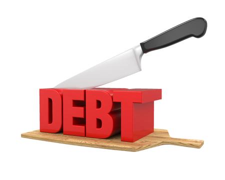 Debt Cuts Concept
