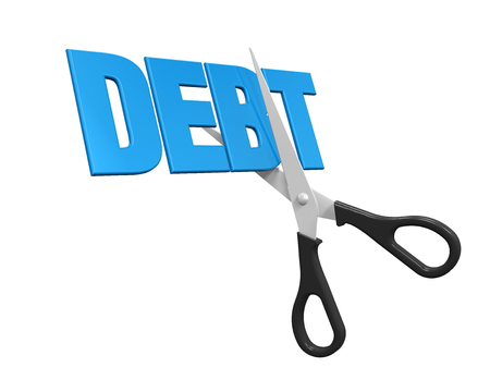 cost savings: Debt Cuts Concept