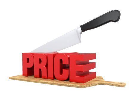 Os cortes de preços Concept