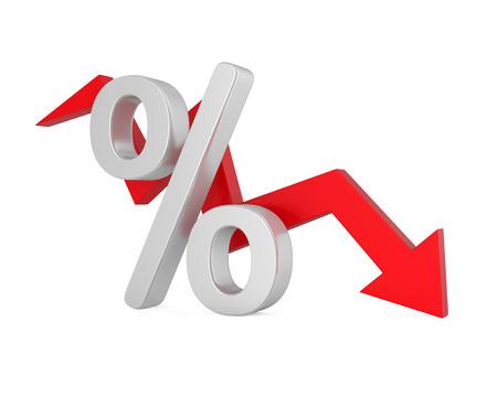Percent Down Arrow