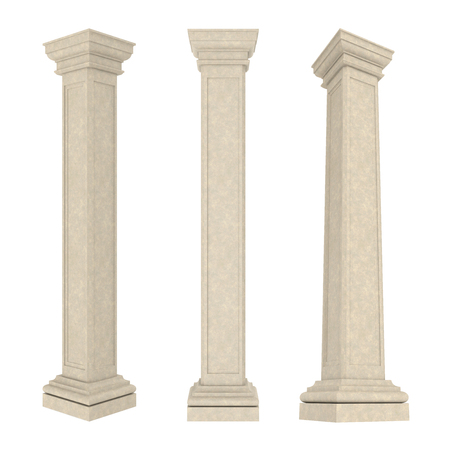 ionic: Classic Columns Isolated