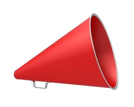 Red Vintage Megaphone Stock Photo
