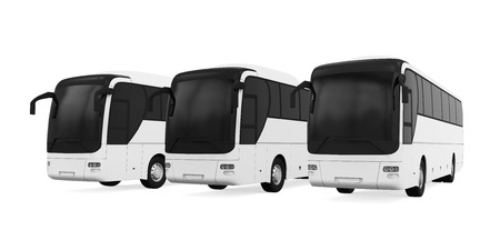 motor coach: Tourist Buses Isolated Stock Photo