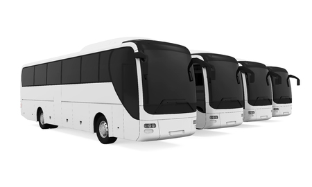 Tourist Buses Isolated Standard-Bild