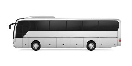 Coach Bus Isolated Archivio Fotografico