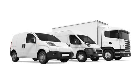 Flota de vehículos de entrega Foto de archivo