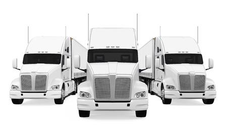 Vrachtwagens Fleet Isolated Stockfoto - 71684625