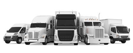 Vloot van Vrachtvervoer Stockfoto