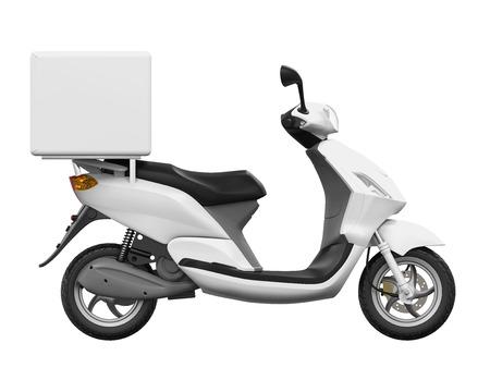 Moto Box Livraison Banque d'images - 72261101