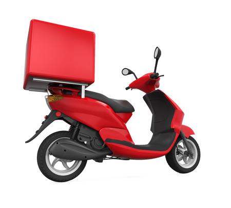 Moto Box Livraison Banque d'images - 71934755