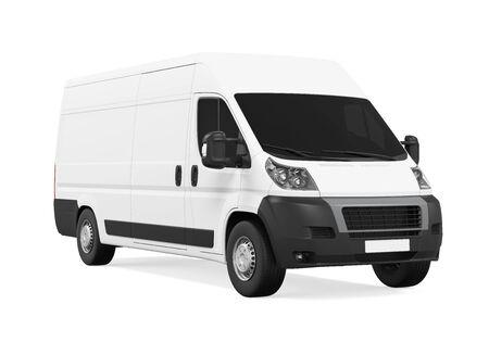 ciężarówka: Delivery Van Isolated Zdjęcie Seryjne