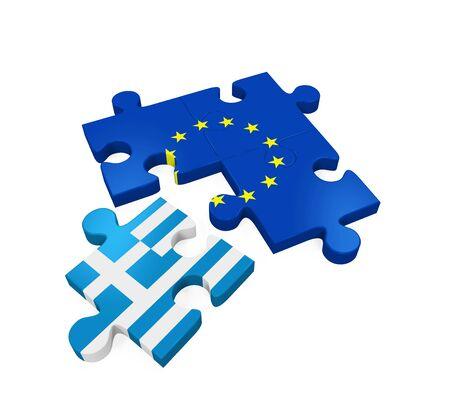 Grexit Puzzle Pieces