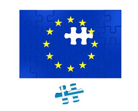 seperated: Grexit Puzzle Pieces