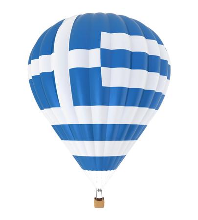 Heißluft-Ballon mit Flagge von Griechenland