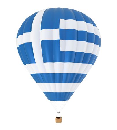 Hot Air Balloon with Flag of Greece