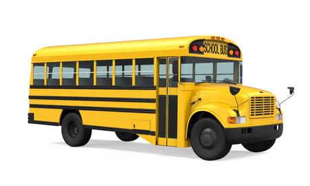 schoolbus: School Bus Isolated