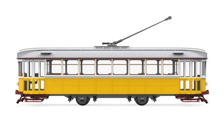 Vintage Tram Isolated Reklamní fotografie - 72938986