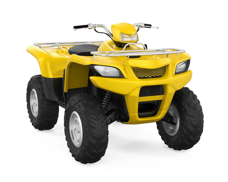 sand dunes: All-Terrain Vehicle Isolated