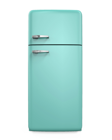 Retro Refrigerator Isolated