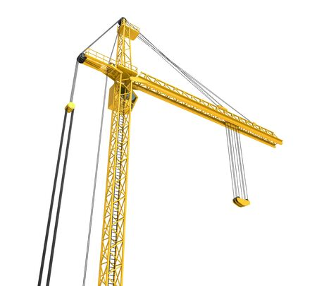 Construction Tower Crane Isolated