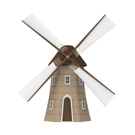 dutch: Dutch Windmill Isolated Stock Photo