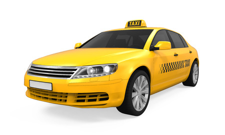 Yellow Taxi Isolated