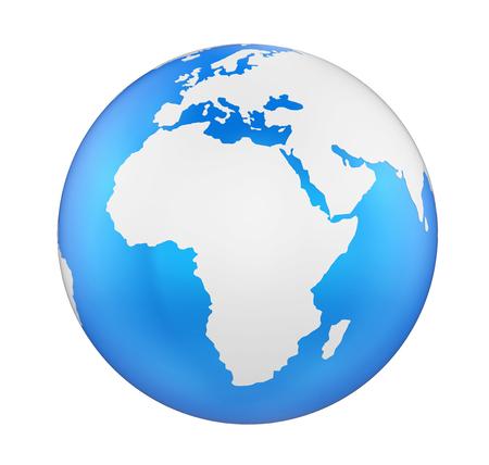 Globo de la Tierra África Vista Aislado