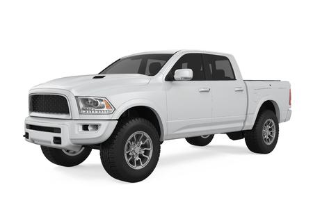 Zilveren Pickup Truck Geïsoleerd Stockfoto