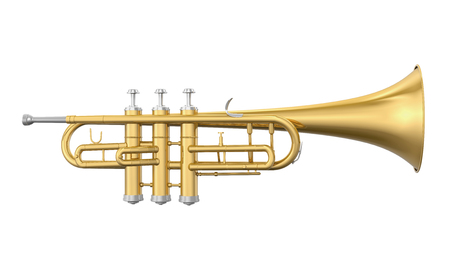 Golden Trumpet Isolated