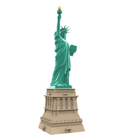 american cities: Statue of Liberty Isolated