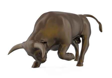 bullish: Bull Sculpture Isolated