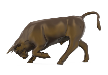 Bull Sculpture Isolated