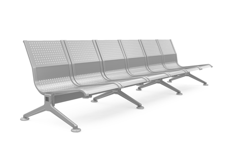 outdoor seating: Metal Bench Isolated