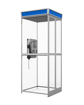 payphone: Telephone Booth Isolated