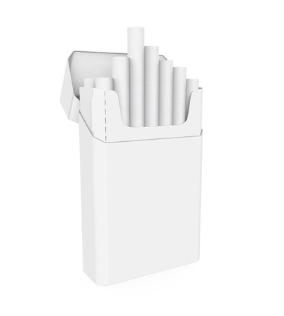branded product: Pack of Cigarettes Isolated