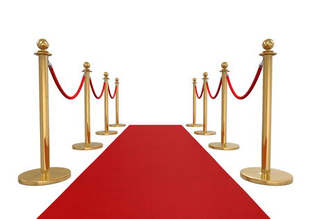 Red Carpet Isolated Imagens