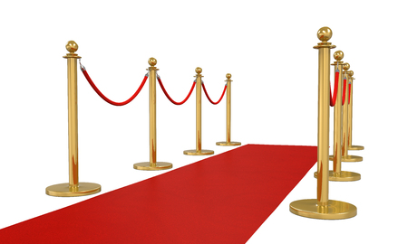 Red Carpet Isolated Stock Photo