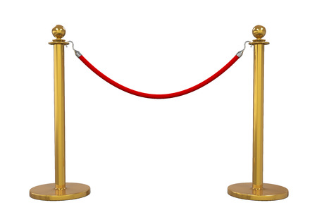 rope barrier: Barrier Rope Isolated