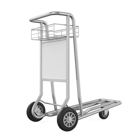 pushcart: Airport Luggage Cart Isolated