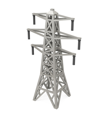 Power Transmission Tower Isolated Banco de Imagens