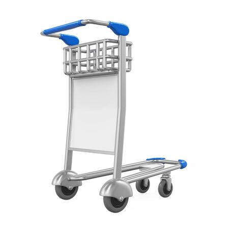 trolly: Airport Luggage Cart Isolated
