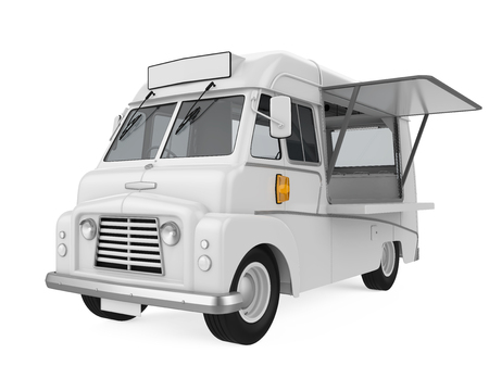 food: Food Truck Isolated Stock Photo