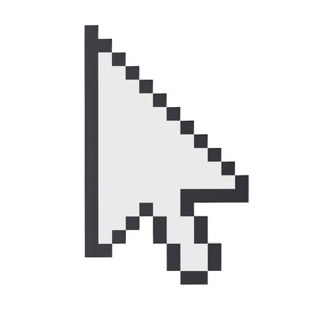 mouse: Mouse Cursor Arrow Isolated Stock Photo